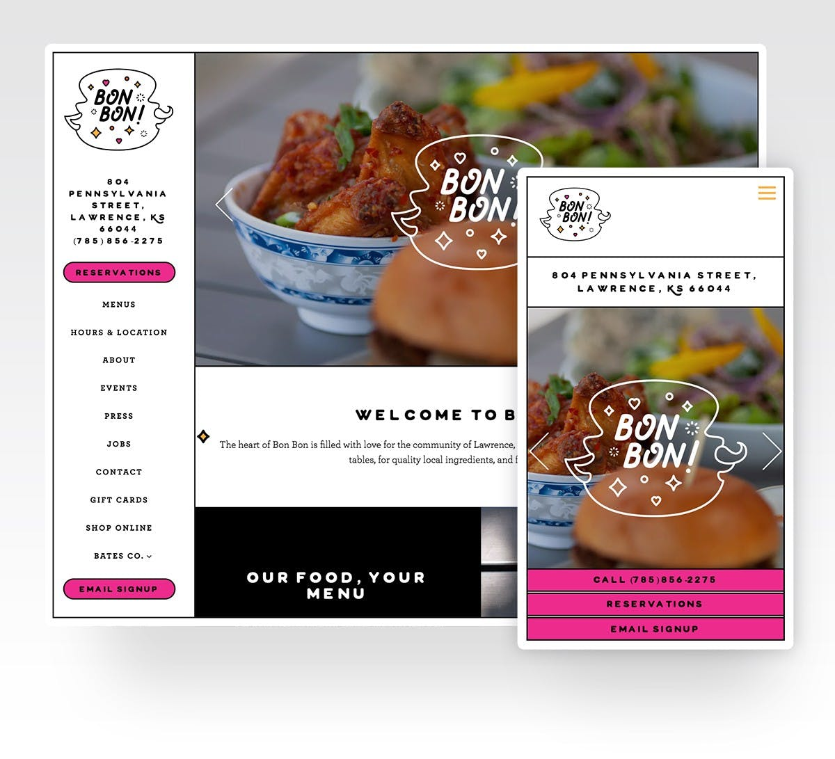 Bon Bon's website