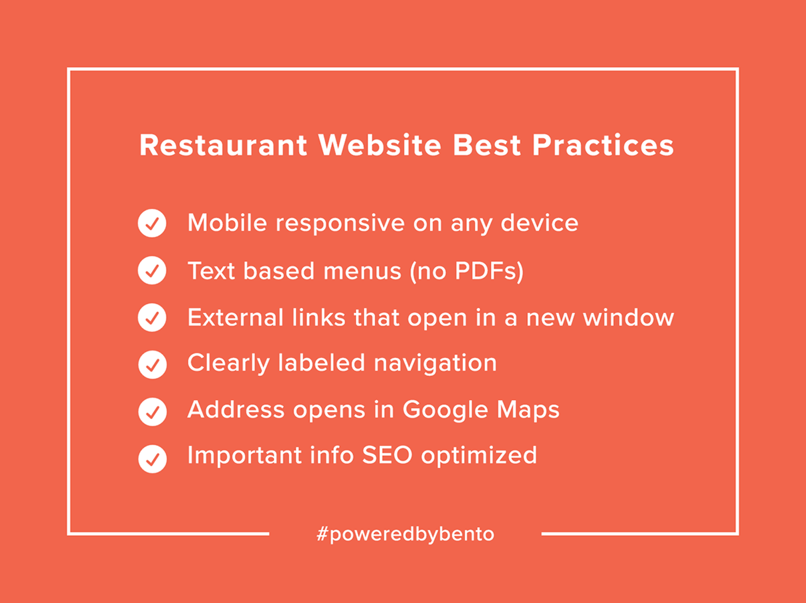 Restaurant Website Checklist