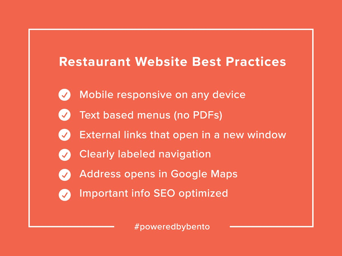 Restaurant Website Checklist