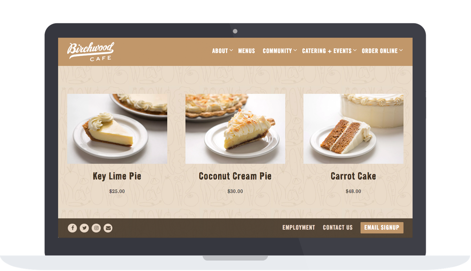 Birchwood Cafe's online store