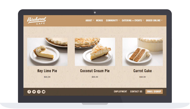 Birchwood Cafe's online store