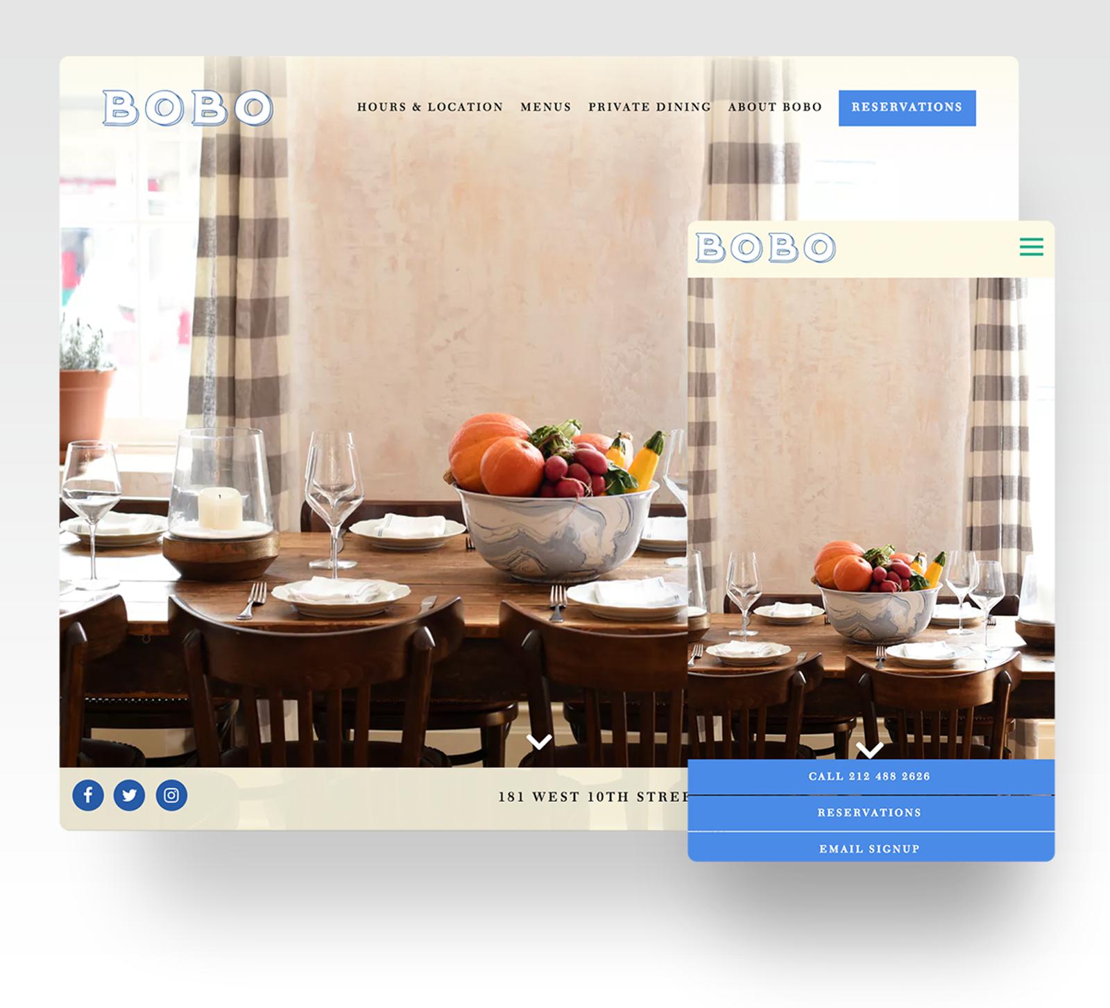 Bobo website
