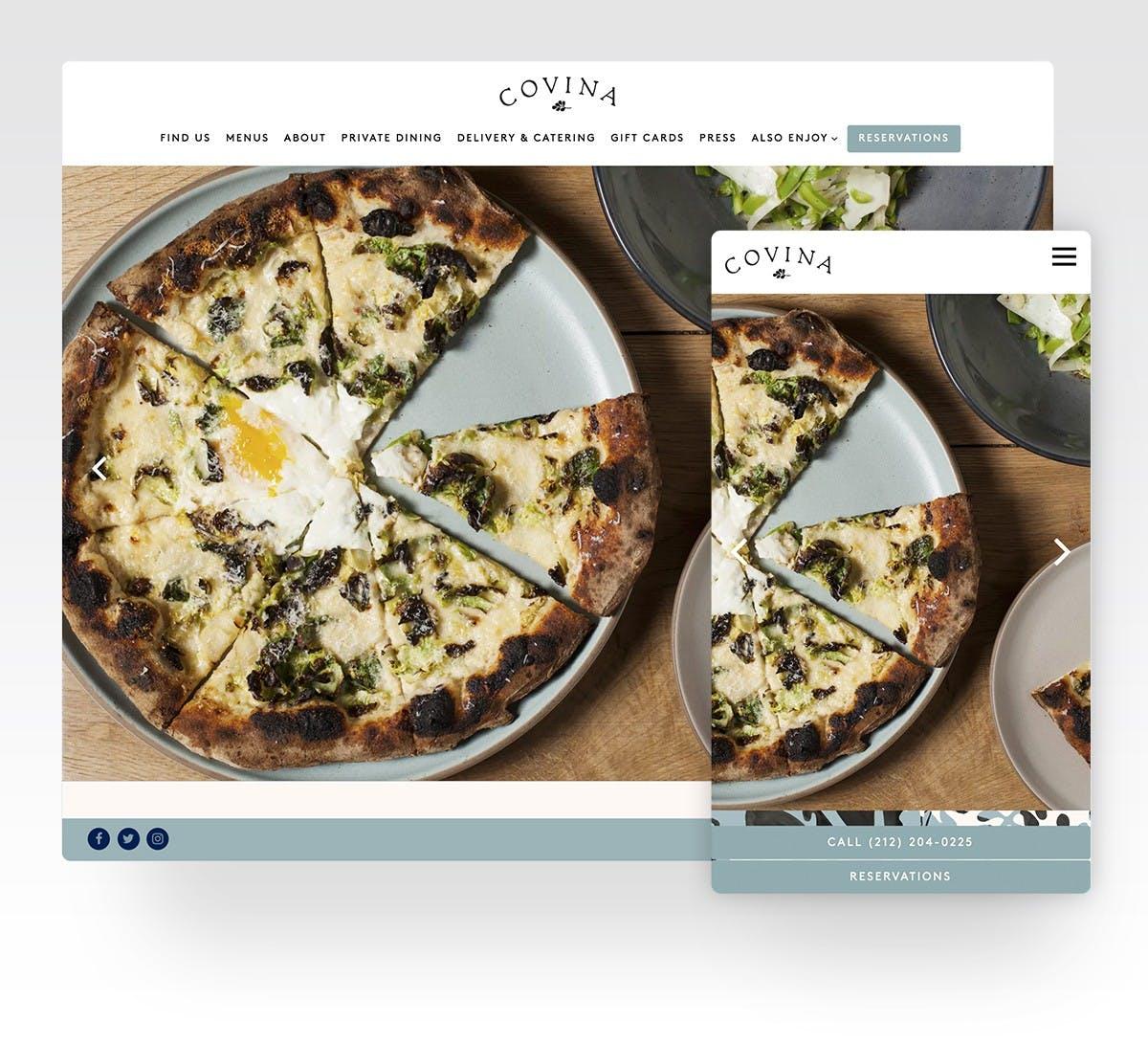 Covina's website