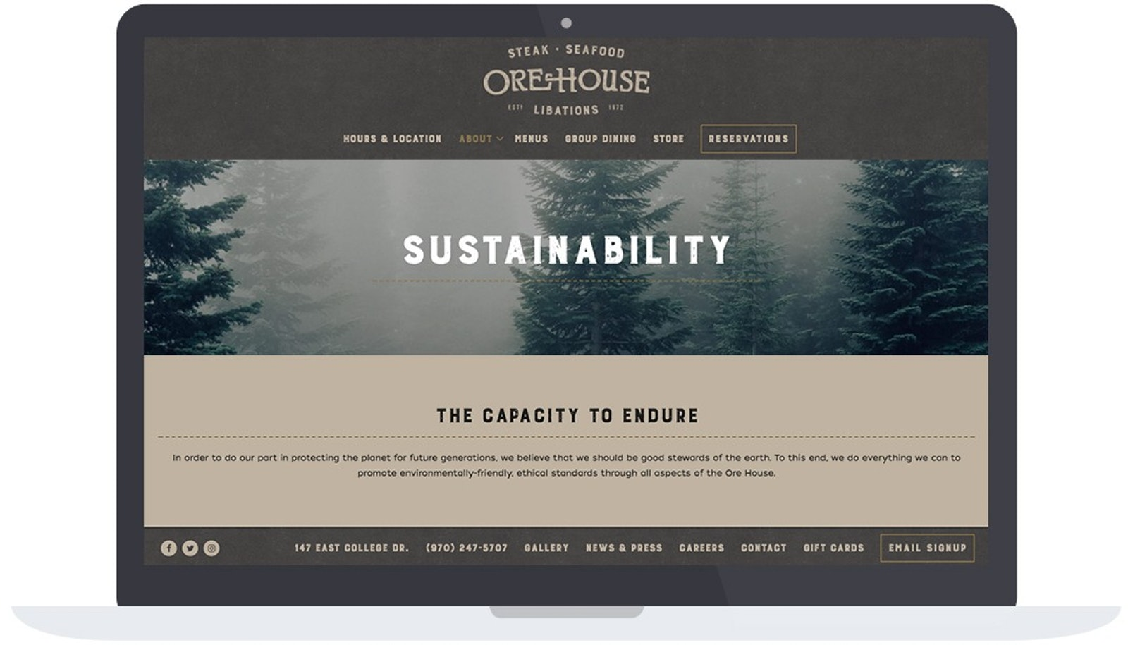 Ore House Sustainability Page
