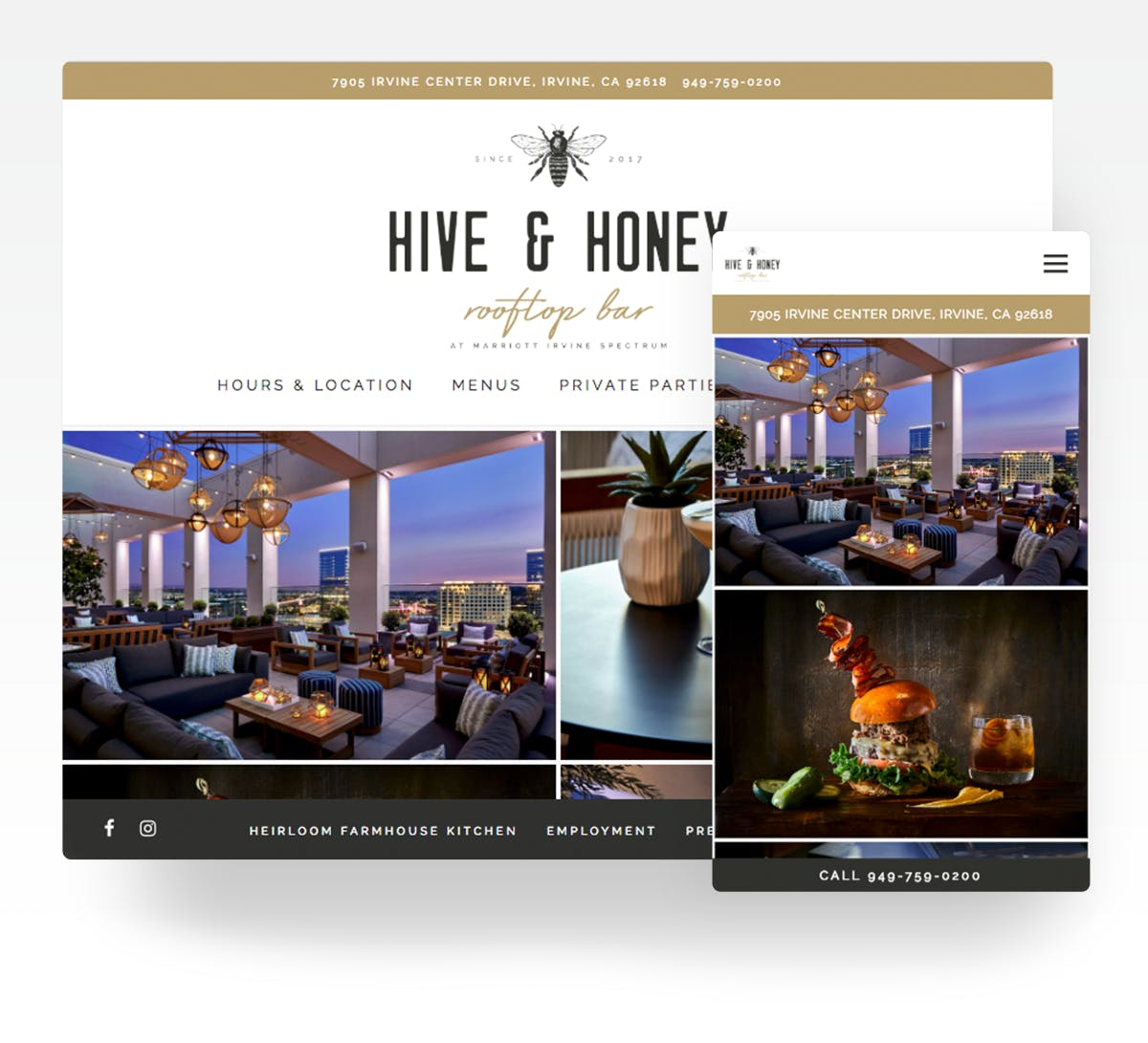 Hive and Honey website