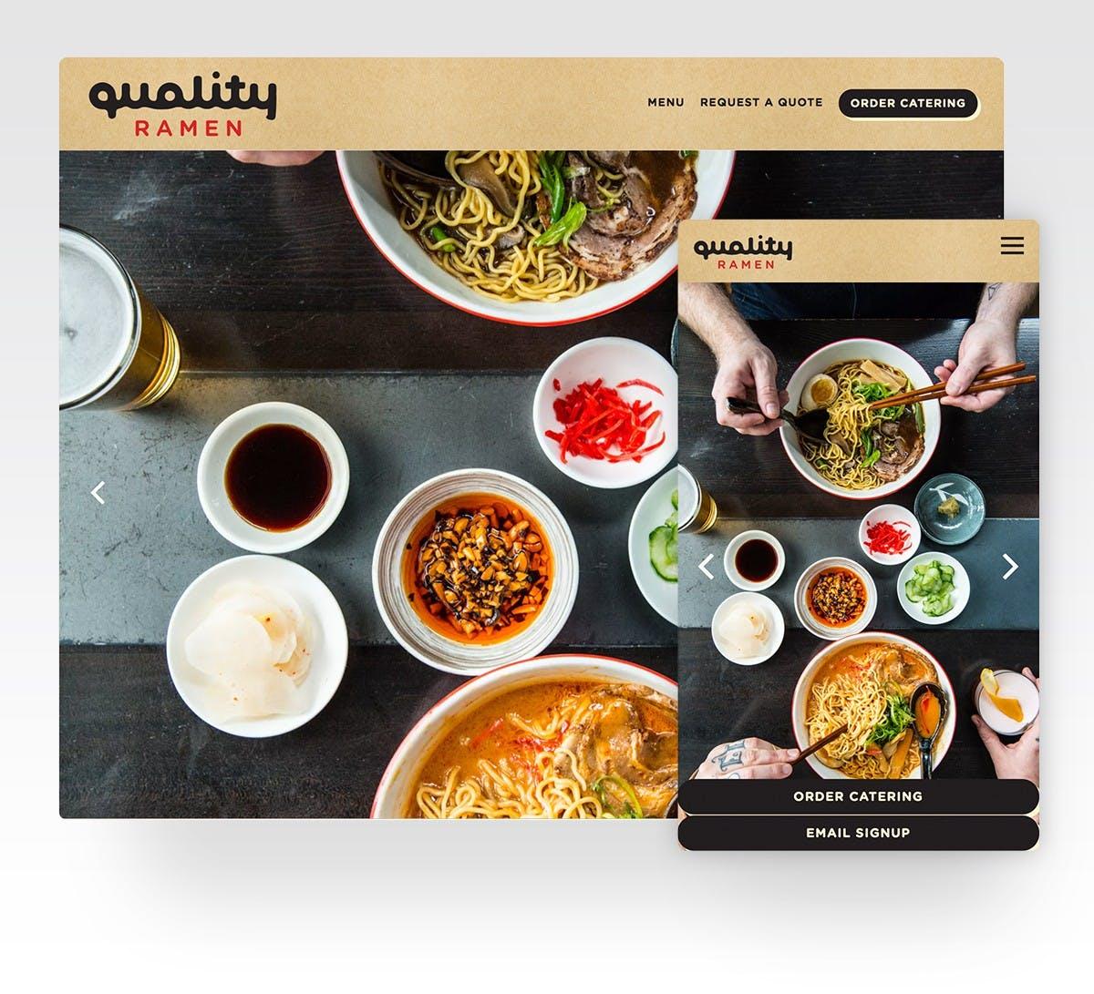 Quality Ramen's website